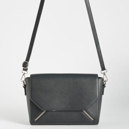 35cb8fdcd25b6 Mohito - Pikowana kompaktowa torebka na łańcuszku - Czarny - damska ...