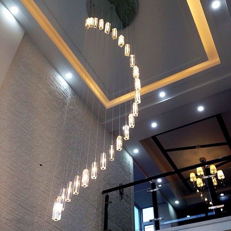 Aliexpress Nowoczesne żyrandole Kryształowe Oświetlenie Schodowe Długo Wiszące Lampa Wisząca Lampy Domu Dekoracyjne Lustre Luminiare Oprawy Oświetleni