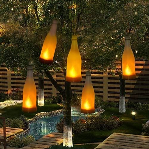 Amazon 5 Sztuk Lamp Solarnych Ogród Pochodnia Efekt Płomienia Butelka świeci W Dekoracji Zewnętrznej Lampy Solarne Do Zawieszenia Na Zewnątrz