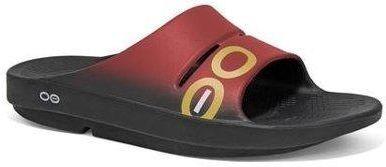 38f6473131804 OOFOS klapki regeneracyjne OOahh Sport czerwone - Czerwony
