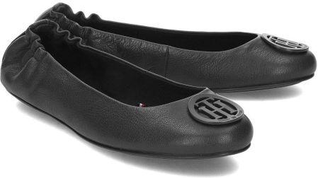 f3f7c7404564b Tommy Hilfiger Flexible Leather - Baleriny Damskie - FW0FW04073 990 - Czarny