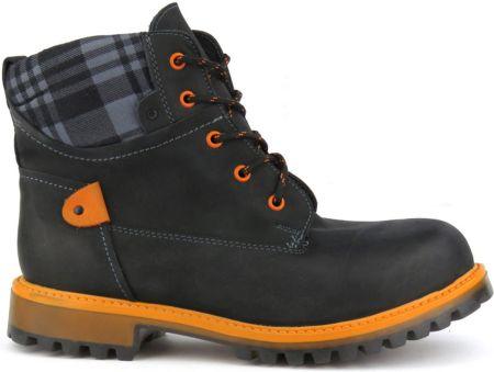 new style 38c2b dc057 Trapery damskie Helios 663 - pomarańczowy    czarny
