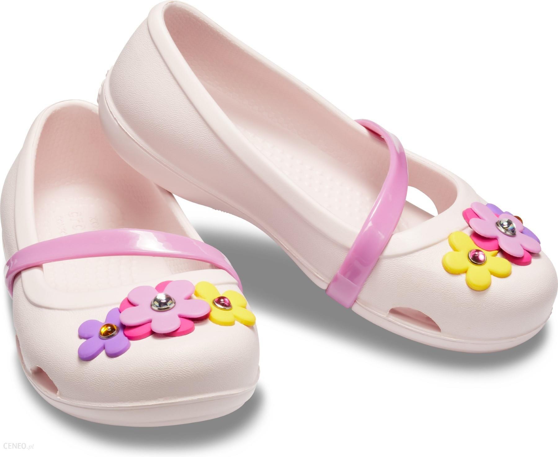 wspaniały wygląd najlepszy hurtownik Nowa kolekcja Crocs różowe dziewczęce balerinki Lina Charm Flat Barely Pink - C10 - Ceny  i opinie - Ceneo.pl