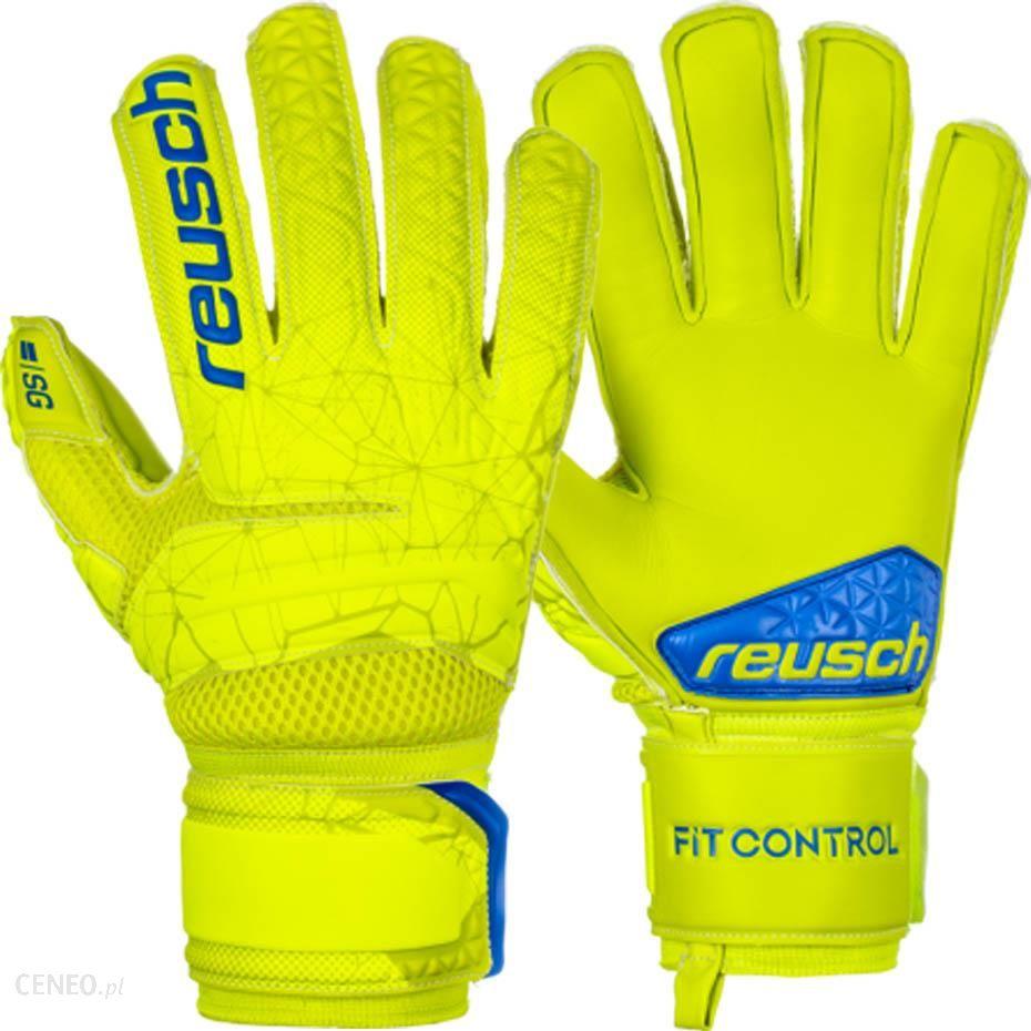 Reusch Rękawice Bramkarskie Fit Control Sg Extra Finger Support Żółte 3970830 583