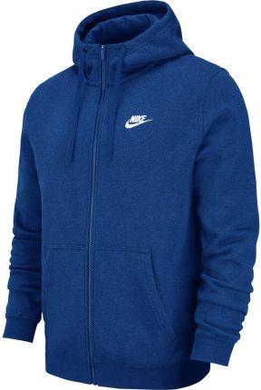 new style 1003e 49ceb Bluza męska Nike M NSW Hoodie FZ FLC Club niebieska 804389 438