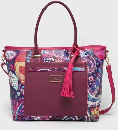 5de01687c37b9 Torebka skórzana Shopper bag zamsz naturalny Szara (kolory) - Ceny i ...