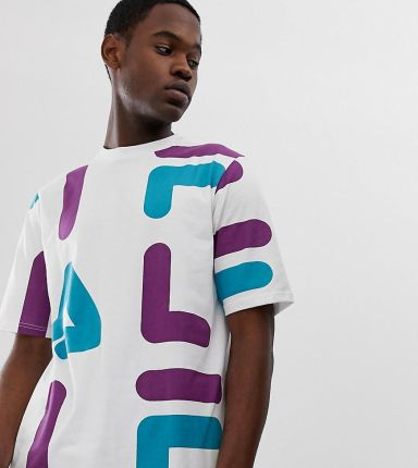 Fila Mens Big and Tall T Shirt with All Over Logo Print
