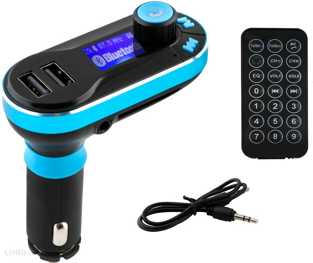 Transmiter Fm 2 x Usb MP3 Sd bluetooth + pilot Opinie i ceny na Ceneo.pl