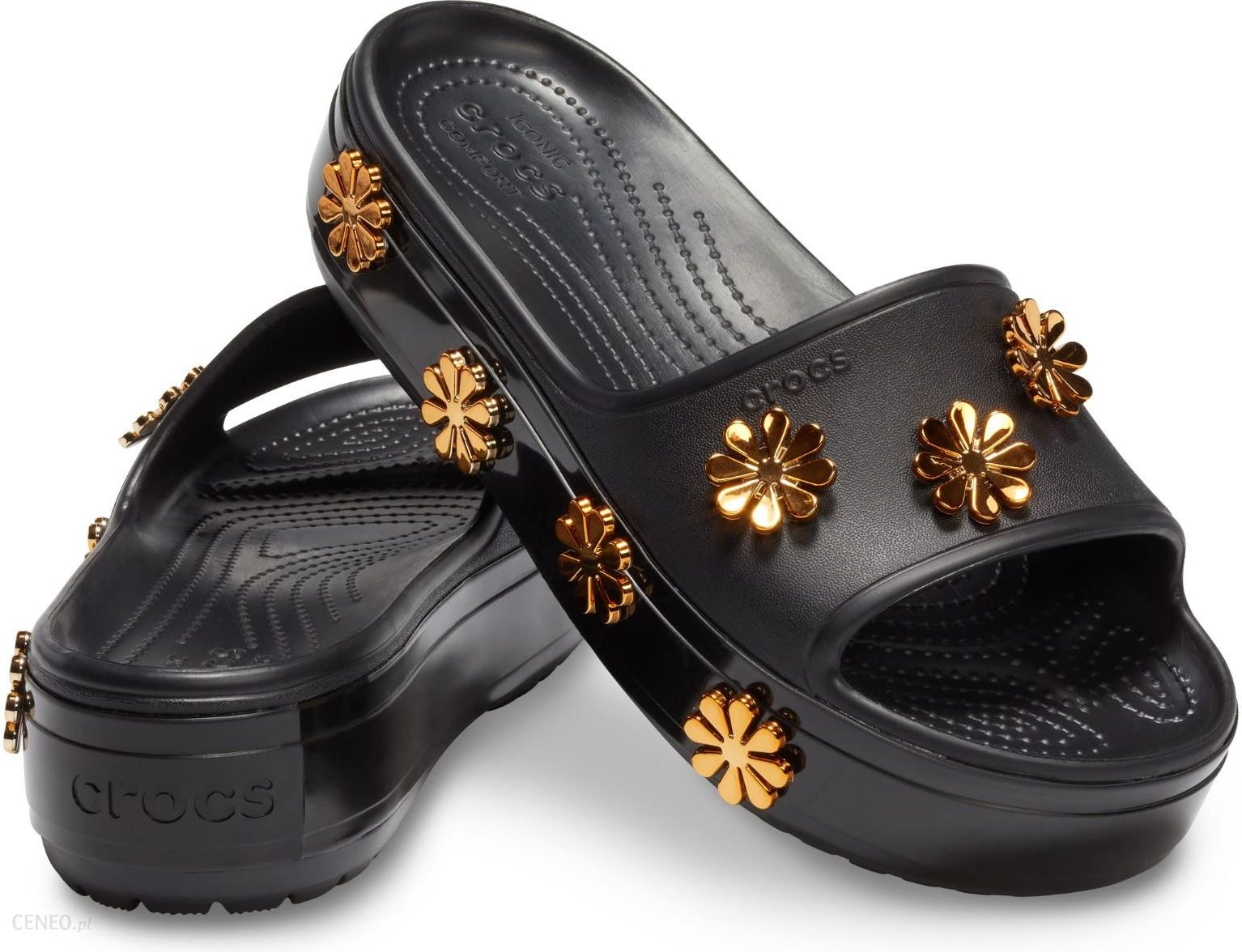 Sklep Sandały Crocs Crocband Platform Metallic Blooms