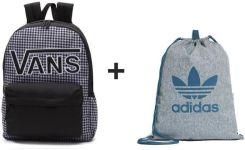 644e1f018 Plecak VANS Realm Flying V Backpack - VN0A3UI8YER 006 + Worek Adidas