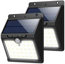Amazon Lampy Solarne Do Lampy Zewnętrzne Baterie Słoneczne Z Czujnikiem Ruchu 33 Led Lampa Solarna Do ściany Ogrodu Wjazdów Drogi Weranda 1 Pa