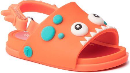 7499dc4e65747d Sandały MELISSA - Mini Melissa Beach Slide Dino 32444 Orange 53419 eobuwie