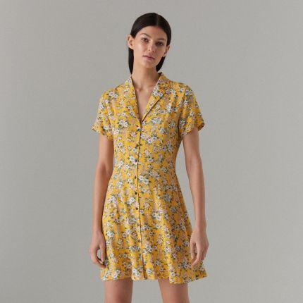 78948de8a8 Mohito - Koszulowa sukienka we wzory - Żółty Mohito