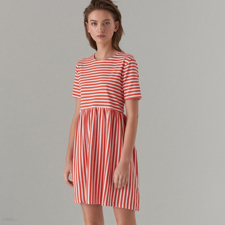 0f0bba0910 Mohito - Bawełniana sukienka w paski - Czerwony - Ceny i opinie ...
