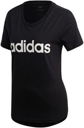 T shirt z paskami z logo Adidas T shirty damskie czarne