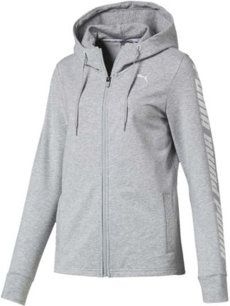7d79d0e68 Bluza damska Puma Modern Sports Hooded Jacket szara 854239 04