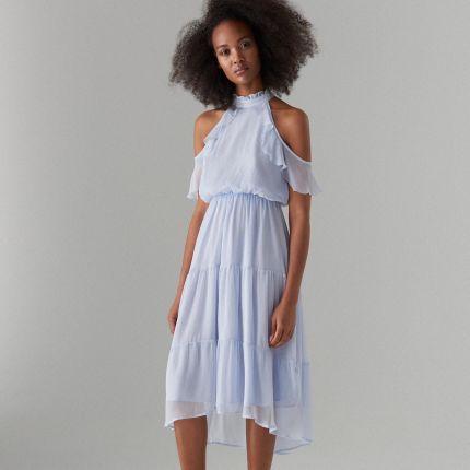 05d6edf26d Mohito - Szyfonowa sukienka open shoulder - Niebieski Mohito