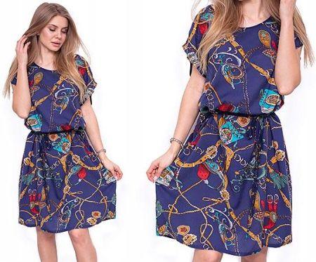 1478d68a1f Rozkloszowana Sukienka Neoprenowa Koronka M243 - Ceny i opinie ...