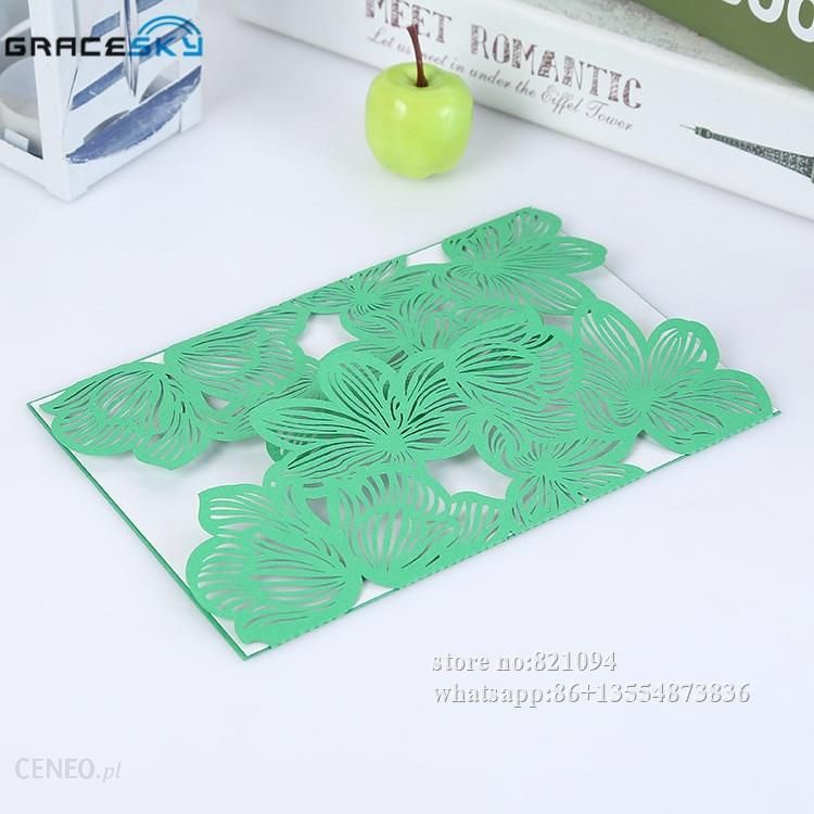 Aliexpress 50pcs Free Shipping Laser Cut Leaves Design Paper Wedding Invitation Cards With Inner Blank For Birthday Party Supplies Ceneo Pl