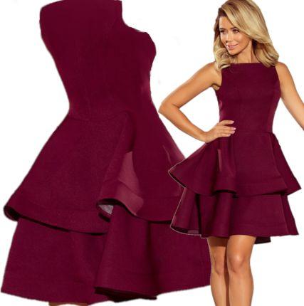 69721cff Bordowa Sukienka Rozkloszowana - oferty 2019 - Ceneo.pl