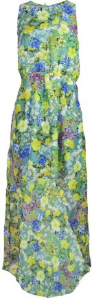 58ee725160 Atm. Zwiewna Szyfonowa Sukienka Maxi Kwiaty L 40 Allegro