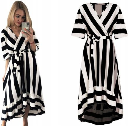 d4e86d853a Skromna Elegancka Sukienka Z Kieszeniami L 40 N975 - Ceny i opinie ...