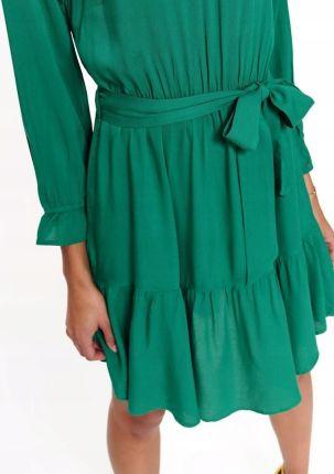 007202a166 Sukienka FLF558 Zielona oliwka L - Ceny i opinie - Ceneo.pl