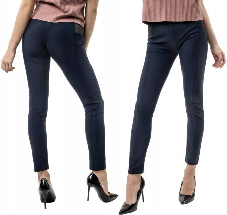 e1cfdd3ba1fa11 Eleganckie Spodnie Cygaretki Damskie 1088 XXL gran Allegro