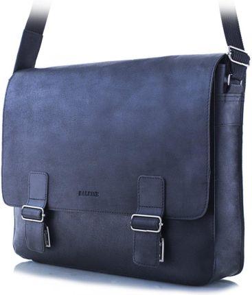 72a7d629e8ea5 Podobne produkty do Klasyczna torebka damska listonoszka konduktorka - 100%  skóra - czarny