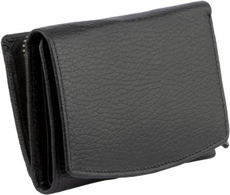 347424185dccc Skórzany Damski Portfel Ochrona RFID Kart Zbliżeniowych Czarny Monety