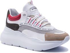 6eb6733f275bb Sneakersy BRONX - 66265-CM BX 1585 Cappuccino/Khaki/Red 3044 eobuwie