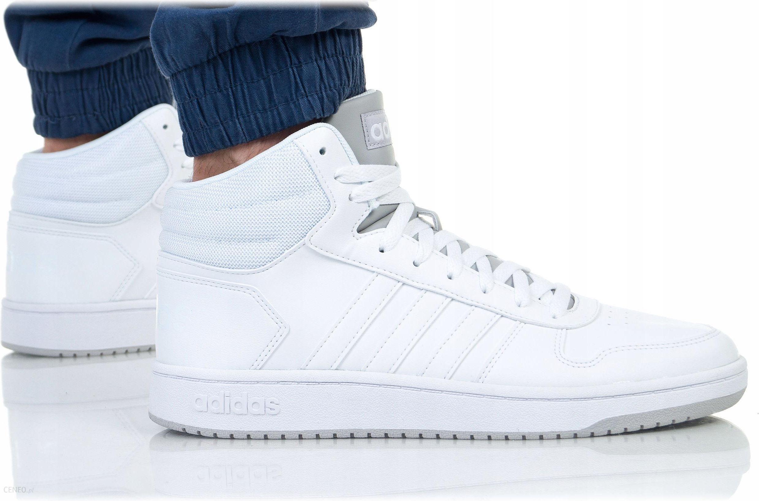 buty adidas białe hoops