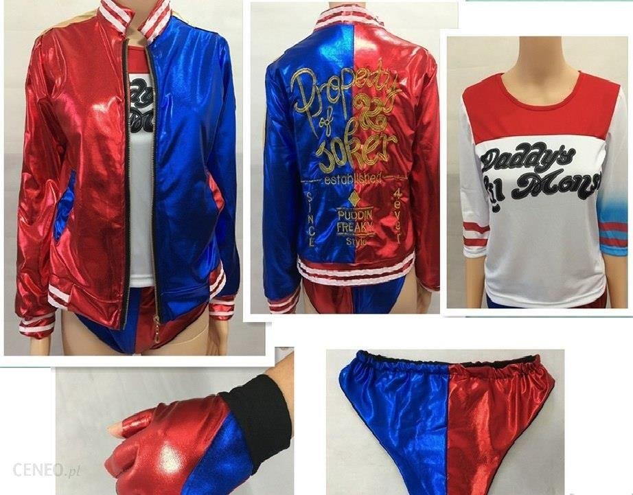 Aliexpress 2018 Nowy Film Samobójstwo Squad Harley Quinn Kobiet Clown Ubrania Halloween Anime Cosplay Costume Płaszcz Kurtka Jeden Zestaw Jednolite Ceneo Pl