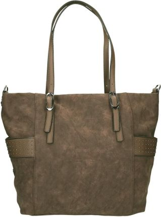 e305689ce4e6b Calvin Klein brązowa torebka Mono Block Shopper - Ceny i opinie ...