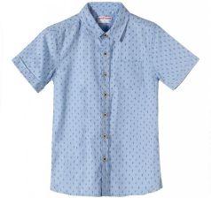 75d7fb133a1524 Koszula chłopięca z krótkim rękawem- niebieska w kaktusy ...