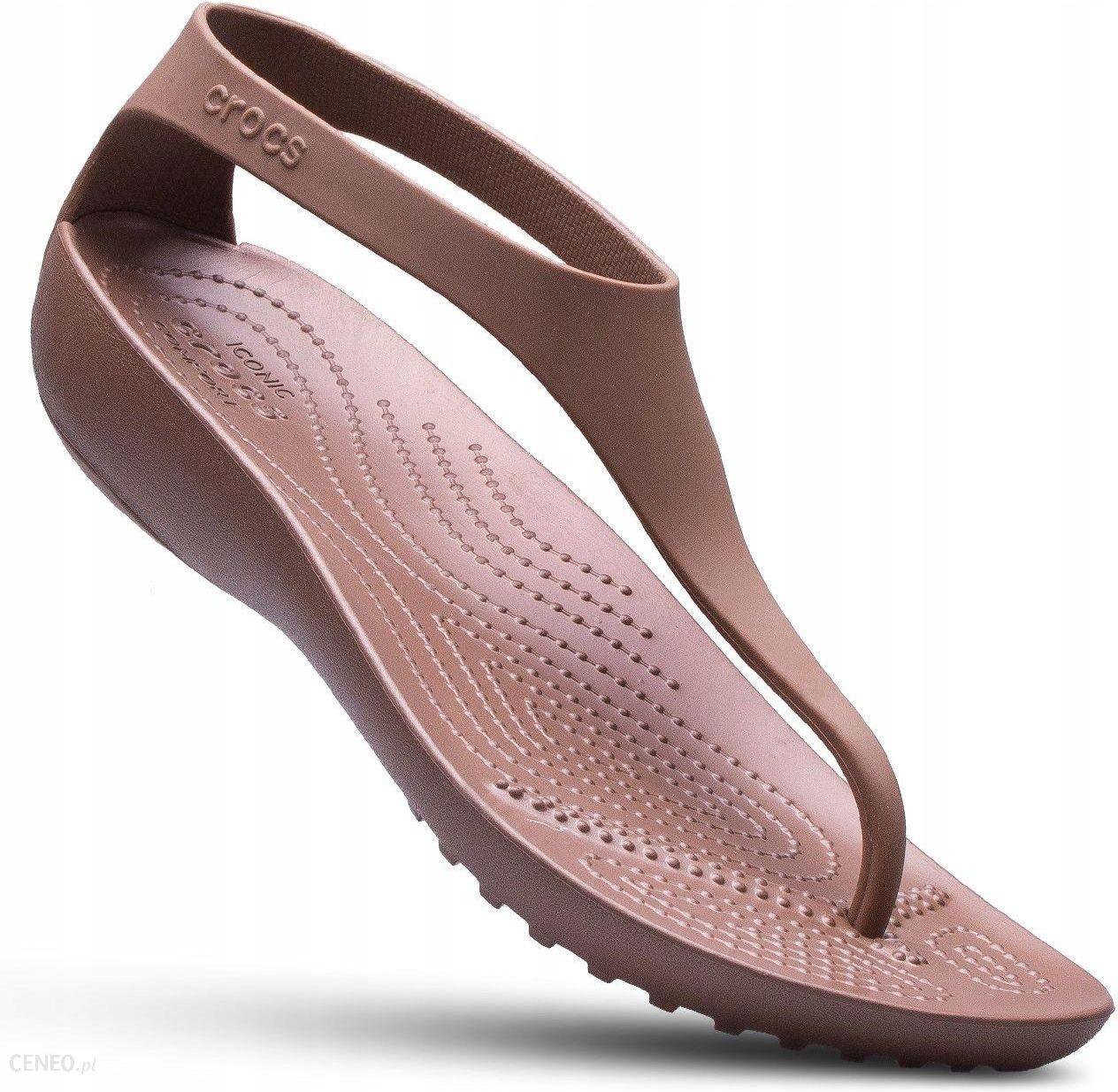 obuwie konkurencyjna cena oficjalny sklep Crocs klapki damskie japonki sandały Serena Flip - Ceny i opinie - Ceneo.pl