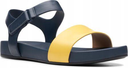Sandały damskie Clarks Bright Pacey Yellow żółte