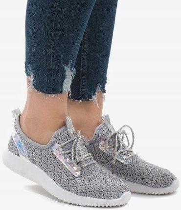 Sneakersy z łańcuszkami R72 Grey2 Silver r.36 Ceny i