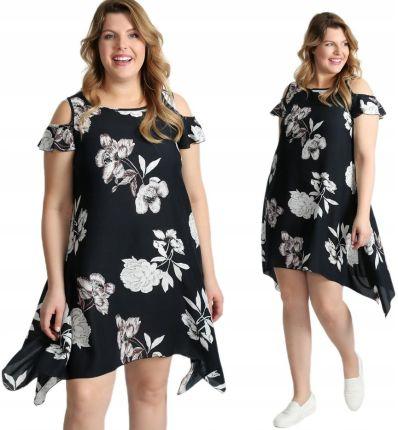 1ba525980d Luźna sukienka z nadrukiem Size Plus I17 W5 44 Allegro