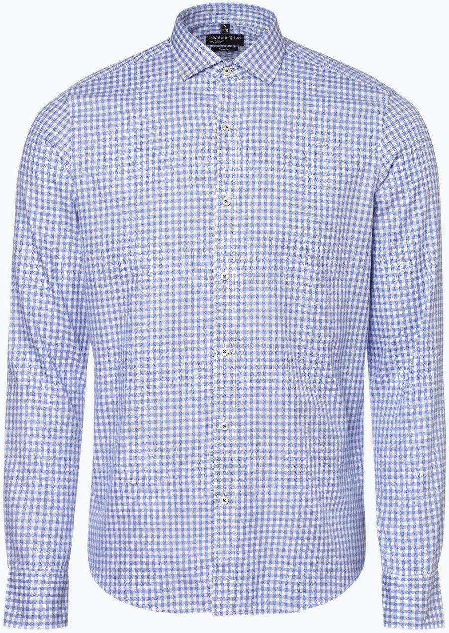 dobry Koszula męska Nils Sundström Odzież Męska AM niebieski