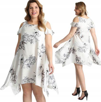 d85ced2116 Luźna sukienka z nadrukiem Size Plus I17 W6 44 Allegro