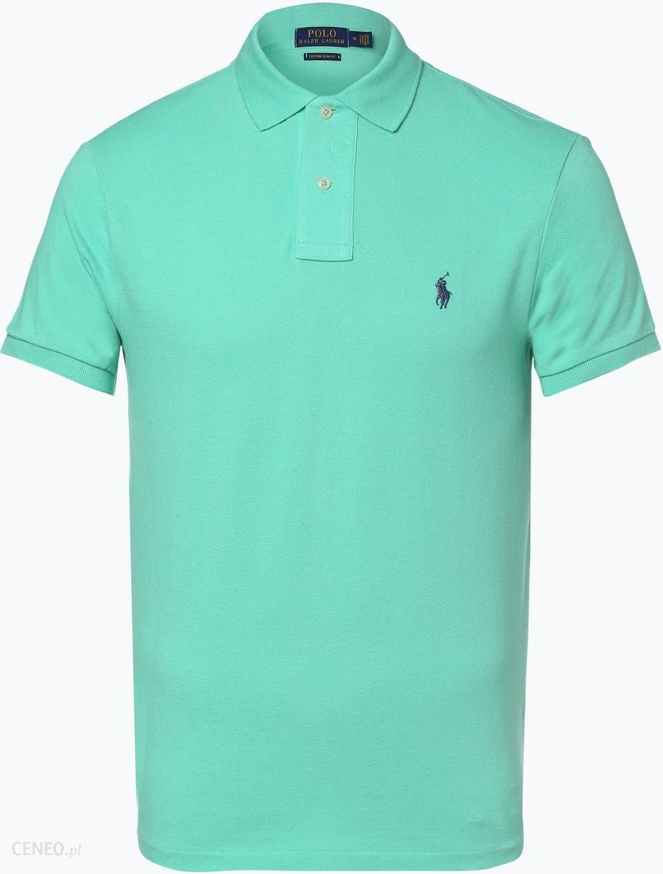 4139d880a Polo Ralph Lauren - Męska koszulka polo – Custom Slim Fit, zielony -  zdjęcie 1