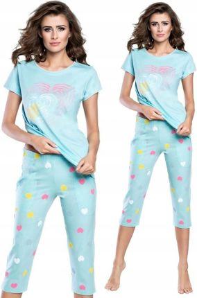 8baa16e78ee971 Piżama Luna 649 róż Rybaczki kwiaty bawełna # XL - Ceny i opinie ...