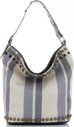 dc3324b9c7350 Włoskie Torebki Damskie na każdą okazję w modne paski marki Diana&Co  Błękitne (kolory) ...