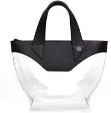 864ca561be3ac Goshico Torebka damska - duży kuferek Flowerbag - kolor czarny - czarny