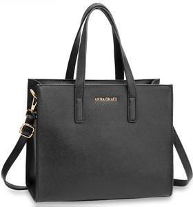 16e7dfbf69d8e Anna Grace AG00592 torebka do ręki czarna + prezent do każdego zamówienia
