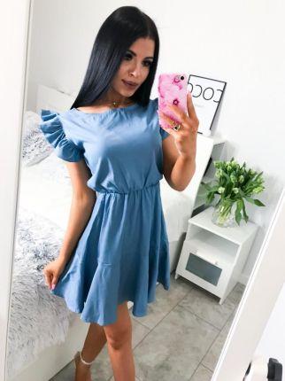 4948e1ed Niebieskie Sukienki - Wzór: Falbany Lato 2019 - Ceneo.pl