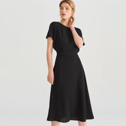 05833cea08 Reserved - Sukienka z dekoltem na plecach - Czarny ...