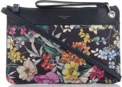 2a9389b5d76e1 Modne i Firmowe Torebki Damskie Listonoszki w kwiaty marki David Jones  Multikolorowe Granatowe (kolory) ...
