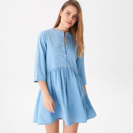 b732169852 Mohito - Sukienka mini w kratkę - Różowy - Ceny i opinie - Ceneo.pl
